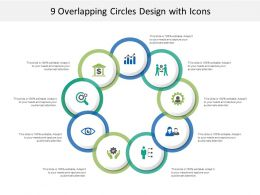 9 Overlapping Circles Design With Icons
