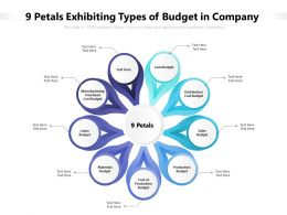9 Petals Exhibiting Types Of Budget In Company