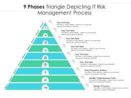 9 Phases Triangle Depicting It Risk Management Process
