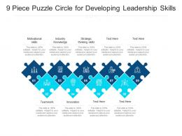 9 Piece Puzzle Circle For Developing Leadership Skills