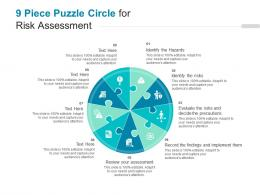 9 Piece Puzzle Circle For Risk Assessment