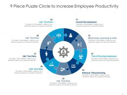 9 Piece Puzzle Circle To Increase Employee Productivity