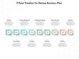 9 Point Timeline For Startup Business Plan