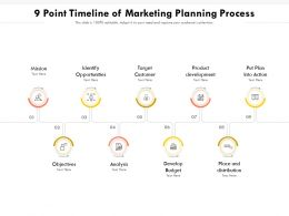 9 Point Timeline Of Marketing Planning Process