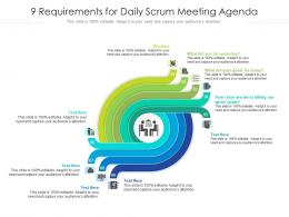 9 Requirements For Daily Scrum Meeting Agenda