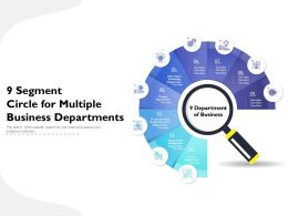 9 Segment Circle For Multiple Business Departments