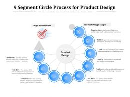 9 Segment Circle Process For Product Design