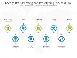 9 Stage Brainstorming And Prototyping Process Flow