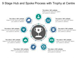 9 Stage Hub And Spoke Process With Trophy At Centre