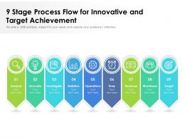 9 Stage Process Flow For Innovative And Target Achievement