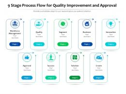 9 Stage Process Flow For Quality Improvement And Approval