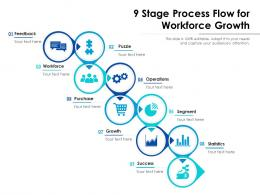 9 Stage Process Flow For Workforce Growth
