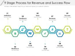 9 Stage Process For Revenue And Success Flow
