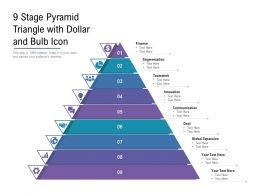 9 Stage Pyramid Triangle With Dollar And Bulb Icon