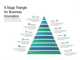 9 Stage Triangle For Business Innovation