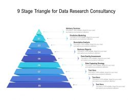 9 Stage Triangle For Data Research Consultancy