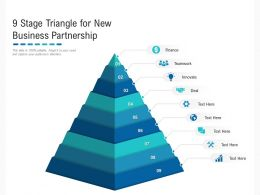 9 Stage Triangle For New Business Partnership