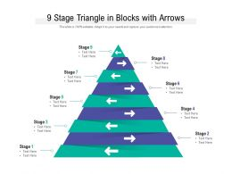 9 Stage Triangle In Blocks With Arrows