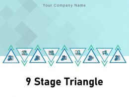 9 Stage Triangle Pyramid Dollar Teamwork Innovation Communication Finance Business