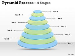 9 Staged 3D Circular Diagram For Business Strategy