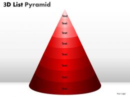 9 Staged 3D Red Triangle Diagram For Sales