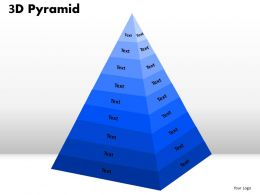 9 Staged 3D Triangular Diagram For Strategy