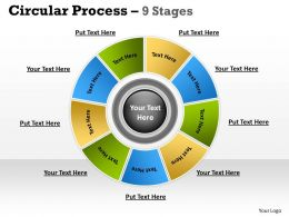9 Stages Planning Process Business Diagram 5