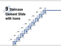 9 Staircase Element Slide With Icons