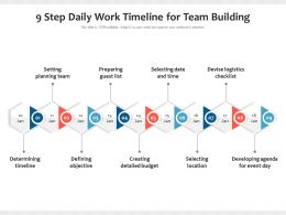9 Step Daily Work Timeline For Team Building