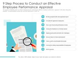 9 Step Process To Conduct An Effective Employee Performance Appraisal
