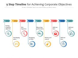 9 Step Timeline For Achieving Corporate Objectives