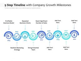 9 Step Timeline With Company Growth Milestones