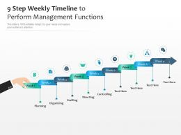 9 Step Weekly Timeline To Perform Management Functions