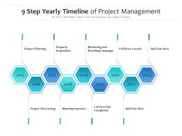 9 Step Yearly Timeline Of Project Management