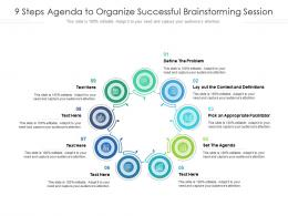 9 Steps Agenda To Organize Successful Brainstorming Session