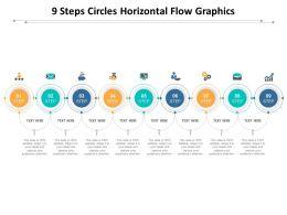 9 Steps Circles Horizontal Flow Graphics