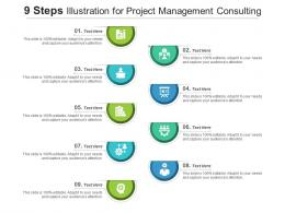 9 Steps Illustration For Project Management Consulting Infographic Template