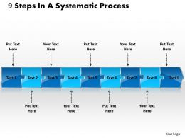 9 Steps In A Systematic Process Schematic Drawing Powerpoint Slides
