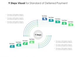 9 Steps Visual For Standard Of Deferred Payment Infographic Template
