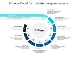 9 Steps Visual For Total Annual Gross Income Infographic Template