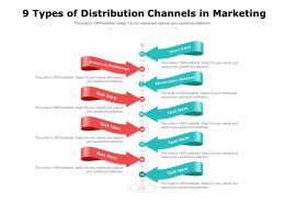 9 Types Of Distribution Channels In Marketing