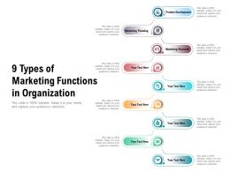 9 Types Of Marketing Functions In Organization