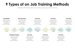 9 Types Of On Job Training Methods