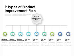 9 Types Of Product Improvement Plan