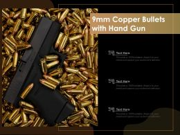 9mm Copper Bullets With Hand Gun