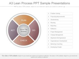 A3 Lean Process Ppt Sample Presentations