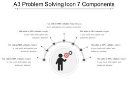 A3 Problem Solving Icon 7 Components PowerPoint Themes
