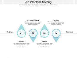 A3 Problem Solving Ppt Powerpoint Presentation Portfolio Guidelines Cpb