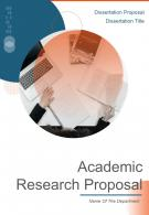 A4 Academic Research Proposal Template