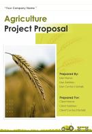 A4 Agriculture Project Proposal Template